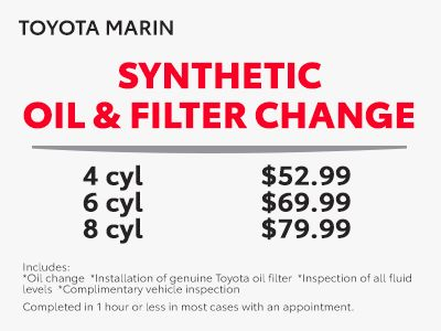 Toyota Oil Change Coupons >> Service Parts Coupons Toyota Marin